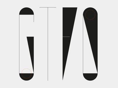 Gtfo Type angelosbotsis greece firm minimal construction geometry modern custom visuals typography type
