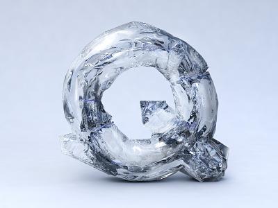 Q quartz c4d typography letter art visuals modern lettering minimal 3d