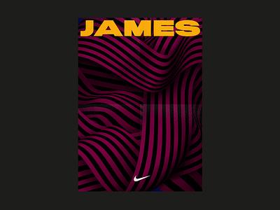 JAMES cleveland clevelandcavaliers greek cavs design illustrator nike poster nba jameslebron