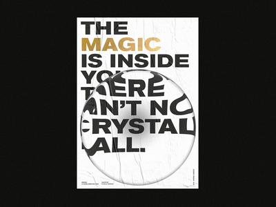 MAGIC goldfoil quote branding angelosbotsis athens minimal type poster design magic
