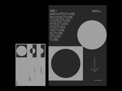 NMA visual identity identity logotype athens stationery angelosbotsism modern minimal visuals branding architecture design
