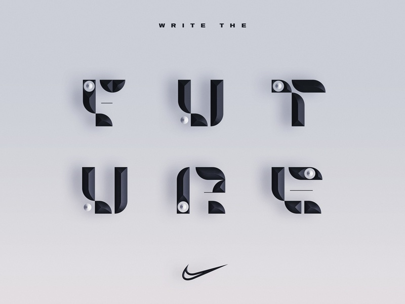 Write the Future nike running nike greece angelosbotsis typeart type visuals art graphicdesgn design typography