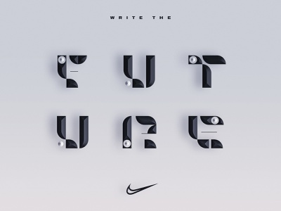 Write the Future nike running nike greece angelosbotsis typeart type visuals art graphicdesgn design typography