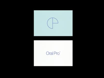 OralPro logomark branding identity dental dental clinic athens greece logo art logotype modern typography visuals design