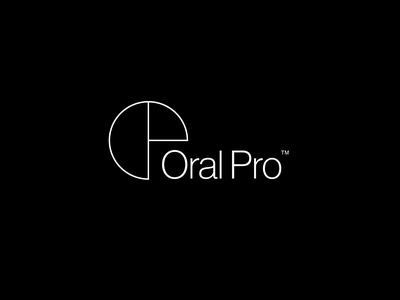 Oral Pro visual artist design branding greece angelosbotsis oralpro logotype black white creative logotypedesign logotype logo
