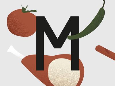 M angelos botsis greece vegetables texture illustration logo logotype branding typography visuals design