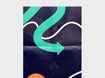 VIZ creativedirection artdirection poster palette modern stipple arrow art greece illustration branding visuals design