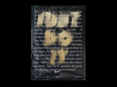 JUSTDOIT art graphic design graphics poster nike sports minimal visuals typography modern athens greece angelos botsis design regular agency type nike justdoit