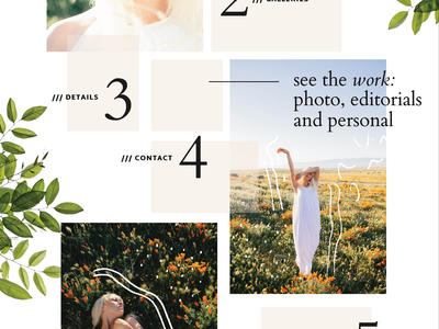 collage web layout