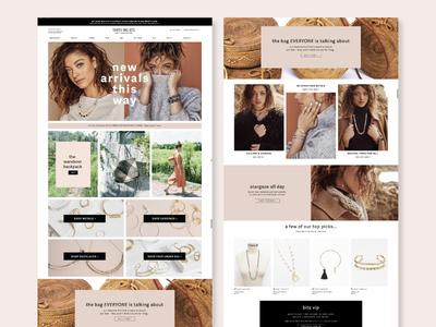 Custom shopify site design