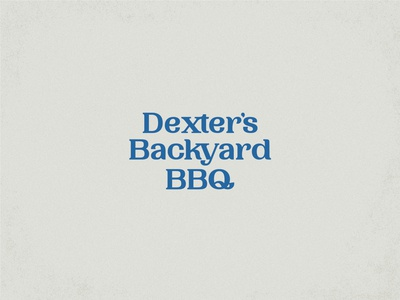 Logotype for Dexter's Backyard BBQ