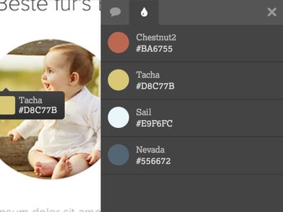 Clarify Color Sidebar