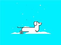 Dachshund Snow Day