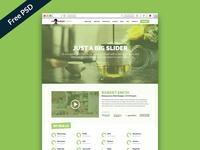 Free PSD: IMX - One Page Resume Website