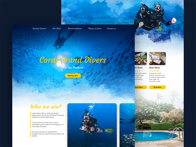 Diving Course and Hotel Website