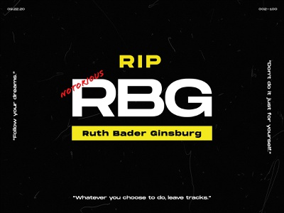 002 - 100: For the Notorious RBG ruth bader ginsburg rbg 100daysofposter pangrampangram 100daysproject 100dayproject 100days graphic design graphicdesign photoshop