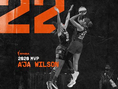 008 - 100: A'ja Wilson, MVP design sports poster texture basketball player basketball las vegas mvp wnba sports design 100daysproject photoshop 100dayproject 100days pangrampangram