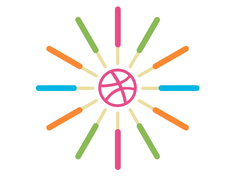 George Nelson inspired popsicles clock - white background vector sketch