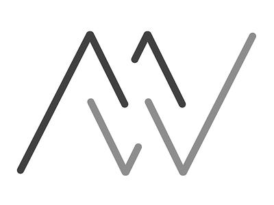 MW - Monogram 1 logo illustrator vector branding monogram
