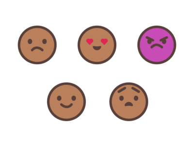 Emoticons smiley icons illustration