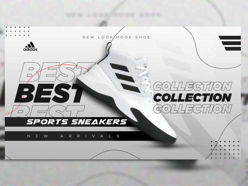 Adidas Shoe Poster by Yash on Dribbble