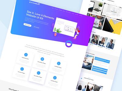 UI Elements Plugin corporate plugins creative business psd landing agency template ux clean design web