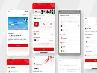 Mobile Remittance App mobile ui clean design mobile design bank banking mobile app finance fintech mobile wallet banking app bank app fintech app financial app