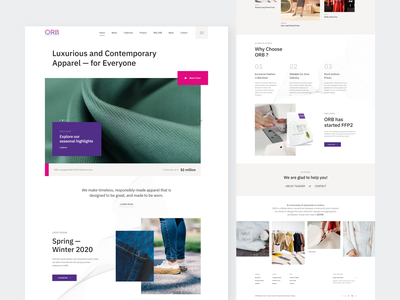 Apparel Corporate Website branding web design clean template website corporate style clothing cloth fashion apparel