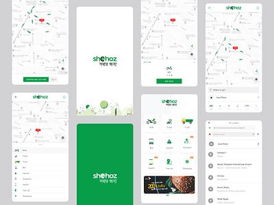Shohoz Rideshare App app car rideshare shohoz taxi driver map transport android ios comapre money ride maise trip share travel navigation onboarding