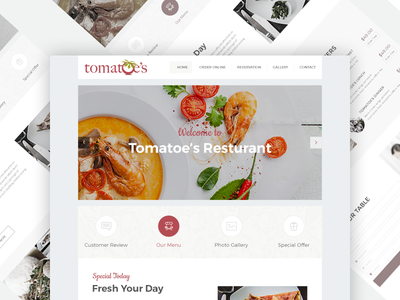 Minimal Restaurant Template