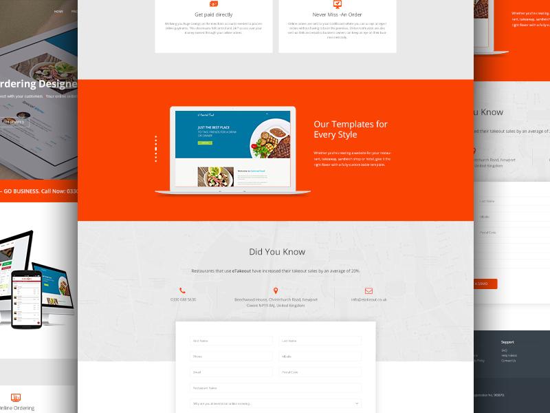 Restaurant Online Ordering System Company Template ux ui kit slides resources presentation market goods website company built ordering online