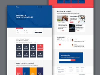 GIVING Insurance PSD Template