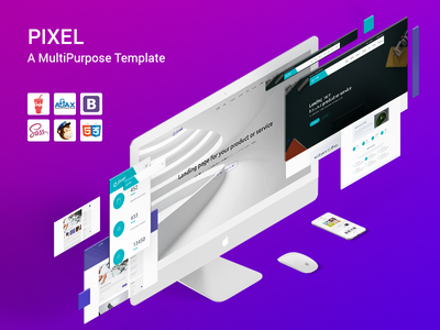 Creative Theme creative clean psd template html landing ux ui wordpress colorful bootstrap agency