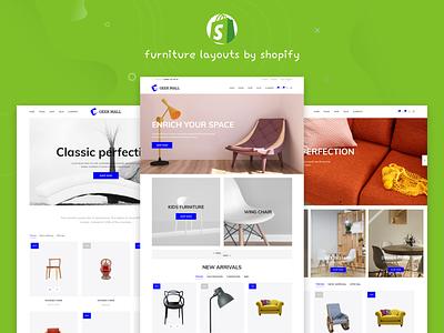 Geekmall - Modern Furniture Shopify Theme design psd website vartical shopify retail design modern minimal kitchen furniture stores store fashion clean bedroom adobexd
