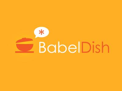 Babeldish Logo translation menu logo food