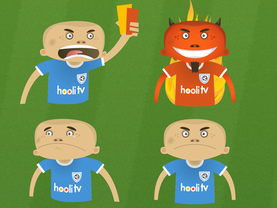 Hooli The Hooligan sport cartoon football design character