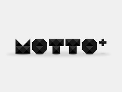 Motto Plus Logo motto plus pyramids spikes logo geometric black