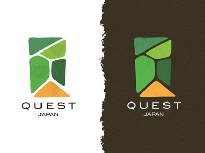 Quest Japan Logo quest fields fuji travel hiking japan logo