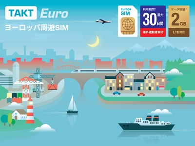 Takt Sim Packaging travel packaging transport product ship boat city town graphic design illustration