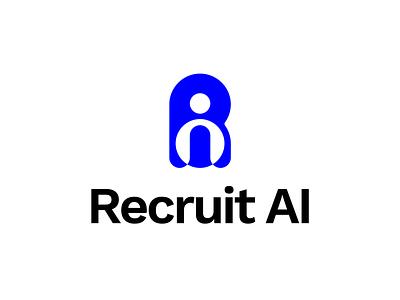 Recruit Ai Logo ai hr recuiting user spotlight timeless contemporary blue flat logo