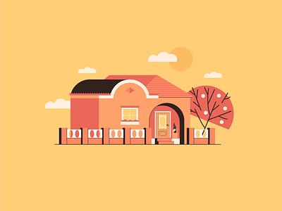 HOUSE illustrator flat vector flat illustration illustration design