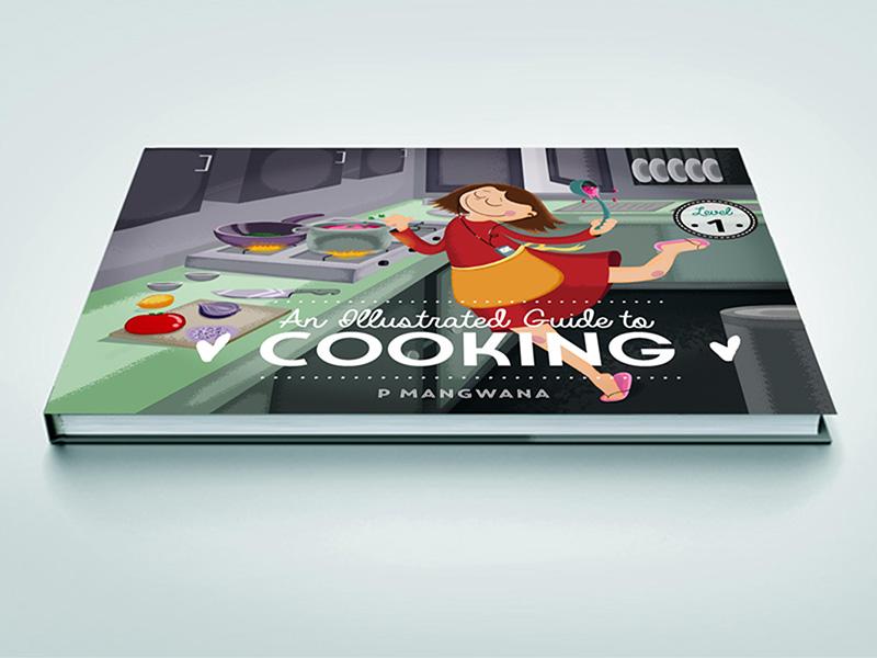 Cookbook Mock illustration rendering illustrator photoshop food fun book mock