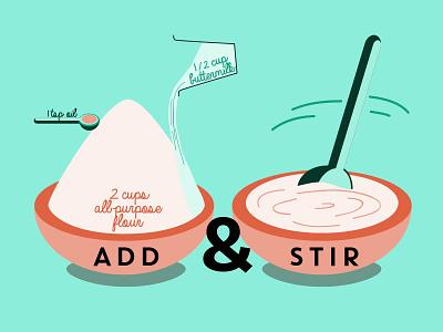 Illustrated Recipies illustrator flat food book illustration infographic
