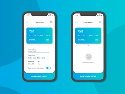 Credit Card Checkout UI iphone hifidelity adobexd checkout card ux userexperience userinterface dailyui ui