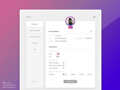 Creating a User Profile - Day 006
