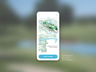 Location Tracker for Golf appscreen location pin app ux userexperience userinterface ui adobexd dailyui golf gps location tracker location