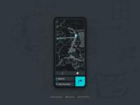 Map User Interface - Dark Mode