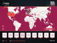 Digital map based web application layout