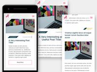 My Blog UI - Mobile (Work under progress)