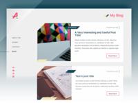 My Blog UI - Desktop